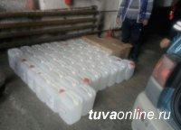 В Барун-Хемчикском районе сотрудниками полиции пресечена незаконная перевозка спиртосодержащей продукции