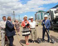 Заложен первый камень в строительство нового здания Кызылского городского суда