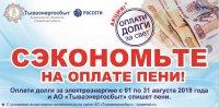 Тываэнергосбыт: Оплати долги и сэкономь на оплате пени!