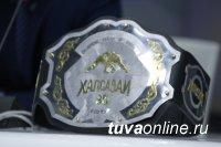 Баасан Баткар и Субудай Шойдун (Тува) поборются со спортсменами из Якутии в «Лиге чемпионов хапсагай»