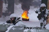 В тувинских горах прошли учения по ликвидации боевиков...