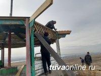 """""""Гору Любви"""" на северном въезде в Кызыл привели в порядок рабочие МУП Благоустройство"""