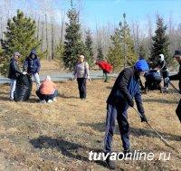 Работники культуры Тувы cобрали на территории Национального Парка 20 тонн мусора