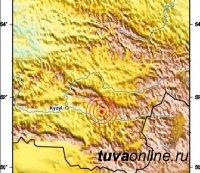 В Туве зафиксирован подземный толчок силой 4 балла