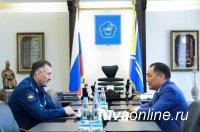 Глава Тувы с заместителем Главкома ВКС РФ обсудил вопросы развития региональной авиации
