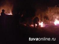 В Туве лесники, спасатели, военнослужащие смогли защитить три села от лесных и степных пожаров, усиленных шквалистым ветром