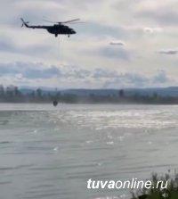 В таежном Тоджинском кожууне Тувы с помощью авиаэскадрильи был локализован лесной пожар площадью 20 га