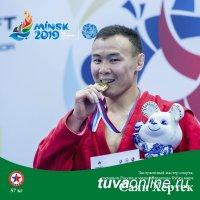 Тувинский самбист Саян Хертек завоевал серебро на вторых Европейских играх в Минске