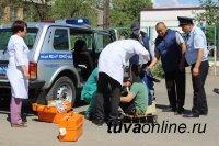 В Туве сотрудники Госавтоинспекция провели учения по ликвидации последствий ДТП