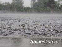 В Туве из-за обильных дождей возникла угроза подтоплений населённых пунктов и дорог