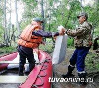С придомовых территорий домов поселка Хондергей Дзун-Хемчикского района Тувы вода ушла, дорога восстановлена