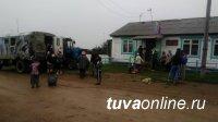 В Улуг-Хемском районе Тувы размыло подъездную дорогу к селу Арыскан