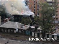 Житель Тувы, находясь в командировке в Иркутске, спас граждан из горящего дома