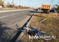 В Кызыле на пешеходном переходе КАМАЗ сбил насмерть 60-летнего велосипедиста