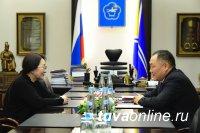Глава Тувы Шолбан Кара-оол встретился с генеральным консулом Монголии госпожой Ганцэцэг