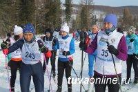 В Туве лидерами массовой гонки «Лыжня России» стали росгвардейцы