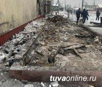 В Кызыле в районе старой церкви распрощались с шашлыками
