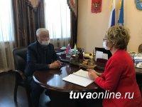 Сенатор Дина Оюн прибыла в Туву в рамках региональной недели