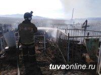 В Туве чуть не сгорел один из городских погостов