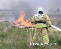 В Туве потушили пожар на ещё одном городском кладбище
