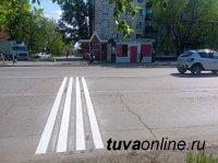 Дорогу на улице Дружбы в Кызыле оснастили шумовыми полосами