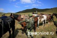 Лошади монгольской породы привезли оружие и боеприпасы горным стрелкам в Туве