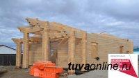 Тува. В селе Чодураа возведены стены нового ФАПа