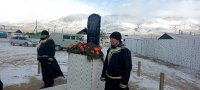 В горном труднодоступном селе Тувы на улице имени погибшего в украинском Ровно фронтовика установлен его памятник