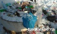 В Кызыле при бесплатном полигоне ТБО «нарушители чистоты» закидывают мусором местные достопримечательности