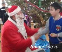 Тува: Голевская ГРК поздравила с Новым годом 587 тоджинских детей