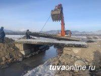 Ситуация с выходом наледевых вод в Бай-Тале (Тува) преодолена
