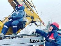 В Туве после шторма 13 марта до сих пор восстанавливают электроснабжение