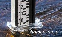В Кызыле уровень воды в Енисее снизился за сутки на 66 см