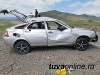 В Каа-Хемском районе Тувы подросток совершил опрокидывание автомобиля
