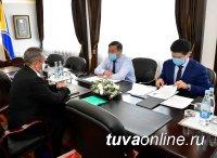 Состоялась встреча врио Главы Тувы с генконсулом Монголии