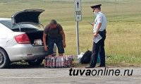 Остановлены автомашины с грузом  нелегального  алкоголя, направлявшихся в Монгун-Тайгинский и Овюрский районы Тувы