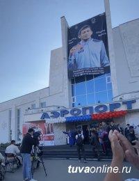 В Туве торжественно встретили первого в истории республики обладателя олимпийской награды борца Артаса Санаа