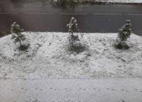 В Туве 3 октября выпал снег!
