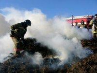 Из-за искры на чабанской стоянке в Туве сгорело 100 тонн сена